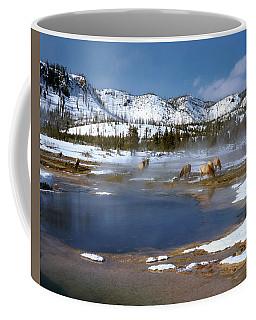 Biscuit Basin Elk Herd Coffee Mug by Ed  Riche