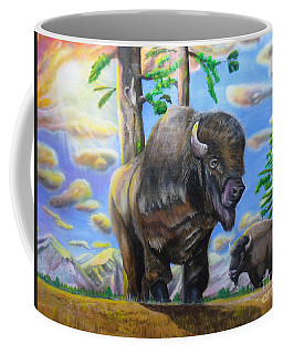 Bison Acrylic Painting Coffee Mug