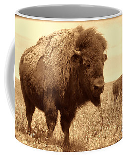 Bison And Calf Coffee Mug