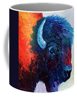 Bison Head Color Study I Coffee Mug