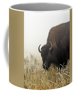 Bison In The Frosty Morning Coffee Mug