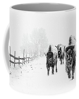Bison On The Run Coffee Mug
