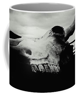 Bison Skull Black White Coffee Mug