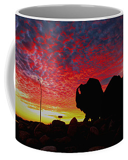 Bison Sunset Coffee Mug by Larry Trupp