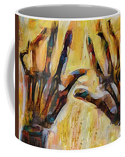 Coffee Mug featuring the digital art Bitter Fingers by Steve Taylor