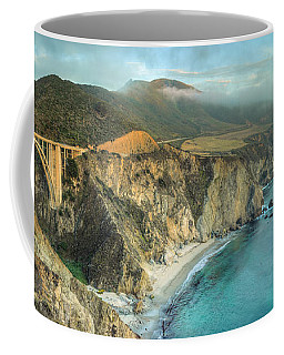 Coffee Mug featuring the photograph Bixby Bridge At Big Sur by James Udall