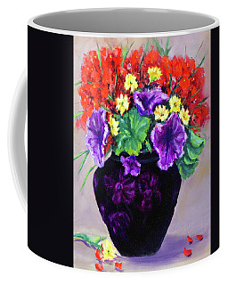 Black Amethyst Satin Vase Coffee Mug