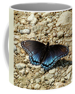 Black And Blue Monarch Butterfly Coffee Mug