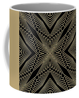 Black And Gold Art Deco Filigree 003 Coffee Mug