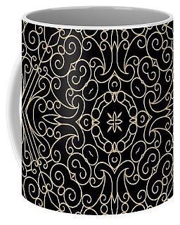 Black And Gold Filigree 002 Coffee Mug