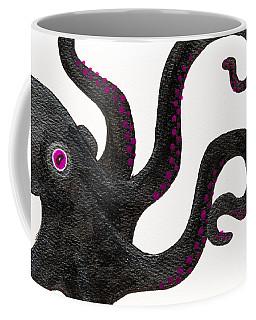 Black And Purple Octopus Coffee Mug
