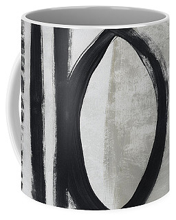 Black And White Abstract 1- Art By Linda Woods Coffee Mug