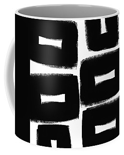 Black And White Abstract- Abstract Painting Coffee Mug