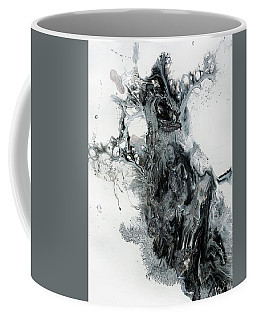 Black And White Abstract Painting  Coffee Mug