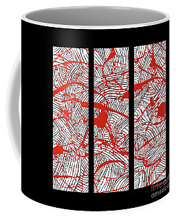 Black And White And Red All Over Coffee Mug