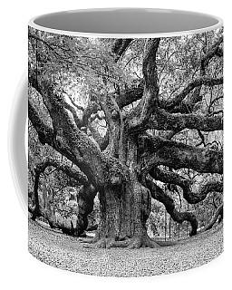 Black And White Angel Oak Tree Coffee Mug