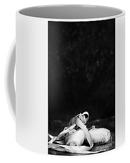 Black And White Ballerina Pointe Slippers Coffee Mug