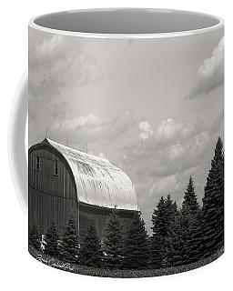 Black And White Barn Coffee Mug by Joann Copeland-Paul