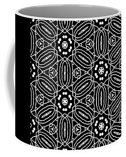 Black And White Boho Pattern 2- Art By Linda Woods Coffee Mug