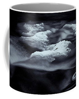 Black And White Brook Abstract Coffee Mug by Tom Singleton