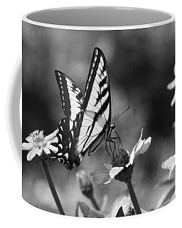 Black And White Butterfly On Flower Coffee Mug