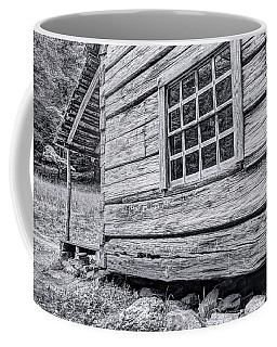 Black And White Cabin In The Forest Coffee Mug