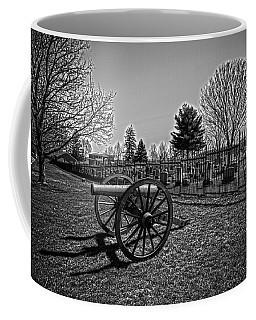 Black And White Cannon Coffee Mug
