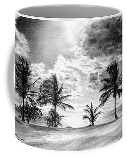 Black And White Caribbean Sunset Coffee Mug