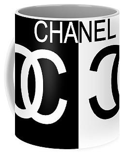 Black And White Chanel 2 Coffee Mug