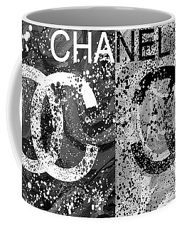 Black And White Chanel Art Coffee Mug