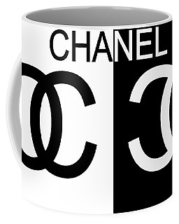 Black And White Chanel Coffee Mug