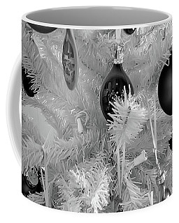 Coffee Mug featuring the photograph Black And White Christmas Tree Ornaments by Aimee L Maher Photography and Art Visit ALMGallerydotcom