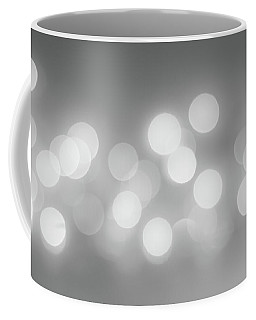 Black And White Circle Abstract  Coffee Mug by Terry DeLuco