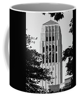 Black And White Clock Tower Coffee Mug