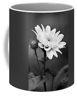Coffee Mug featuring the photograph Black And White Coreopsis Flower by Christina Rollo