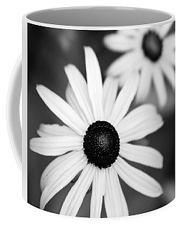Coffee Mug featuring the photograph Black And White Daisies by Christina Rollo