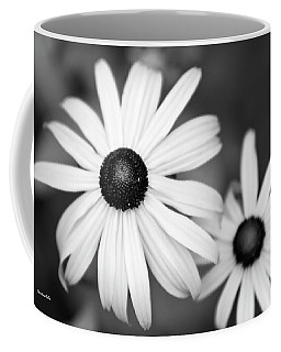 Coffee Mug featuring the photograph Black And White Daisy by Christina Rollo