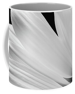 Black And White Daisy Flower Peeking Coffee Mug