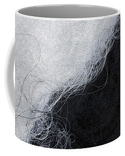 Black And White Fibers - Yin And Yang Coffee Mug