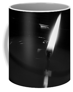 Coffee Mug featuring the photograph Black And White Flame by Robert Knight
