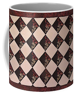 Black And White Checkered Floor Cloth Coffee Mug
