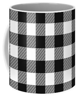 Black And White Gingham Small- Art By Linda Woods Coffee Mug