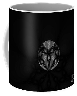 Black And White Globe Fractal Coffee Mug