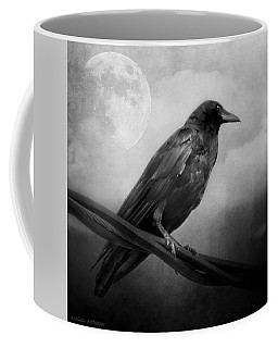 Black And White Gothic Crow Raven Art Coffee Mug