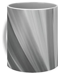 Black And White Mum Petals Coffee Mug
