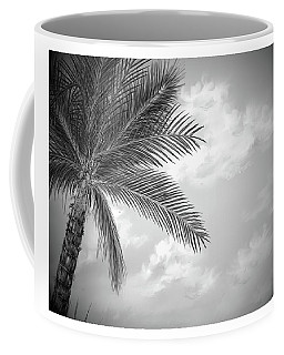 Coffee Mug featuring the digital art Black And White Palm by Darren Cannell
