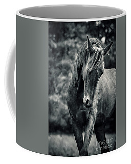 Black And White Portrait Of Horse Coffee Mug