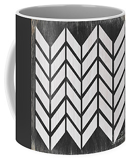 Coffee Mug featuring the painting Black And White Quilt by Debbie DeWitt