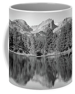 Coffee Mug featuring the photograph Black And White Sprague Lake Reflection by Dan Sproul