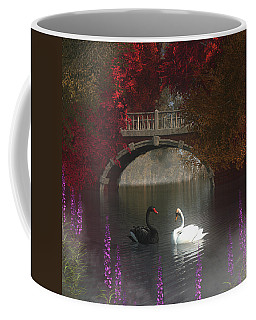 Black And White Swans Coffee Mug